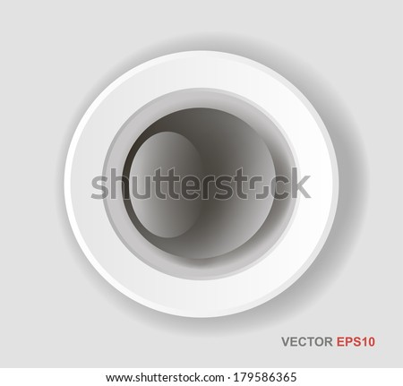 Web buttons for design. Vector white forms set.