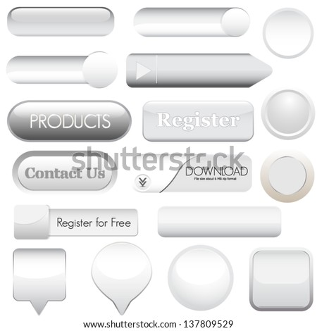 Web buttons for website or app - stock vector