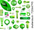 Web buttons. Shopping banner. Advertising elements for promotion.  Best collection. - stock vector