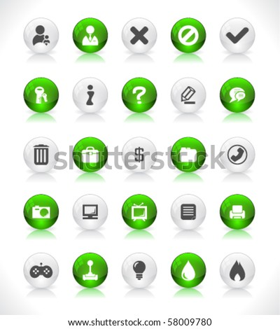 Web buttons. Vector. - stock vector