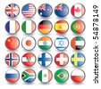 Web buttons with flags isolated on white. Name of the country as the name of the layer. Easy to change.. Vector illustration eps 10. - stock vector