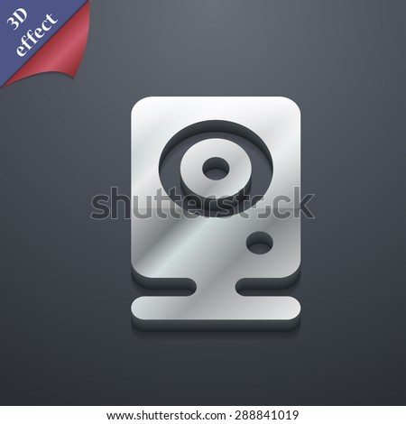 Web cam icon symbol. 3D style. Trendy, modern design with space for your text Vector illustration - stock vector