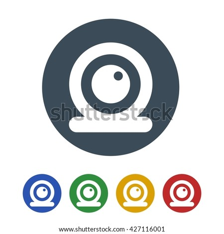 Web camera icon isolated on white background. vector illustration icon