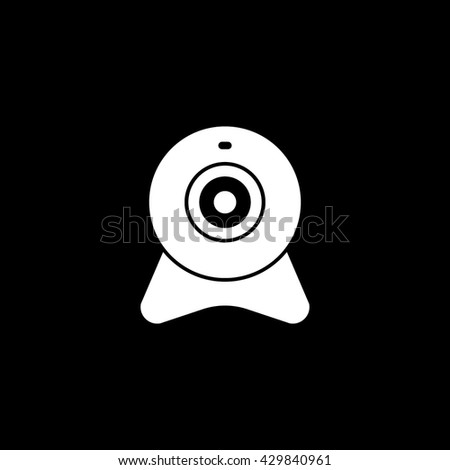 Web Camera Icon On Black Background