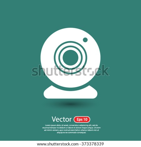 web camera icon. One of set web icons