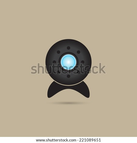 Web camera icon - Vector - stock vector
