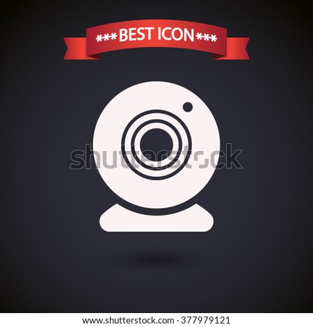 Web camera icon vector