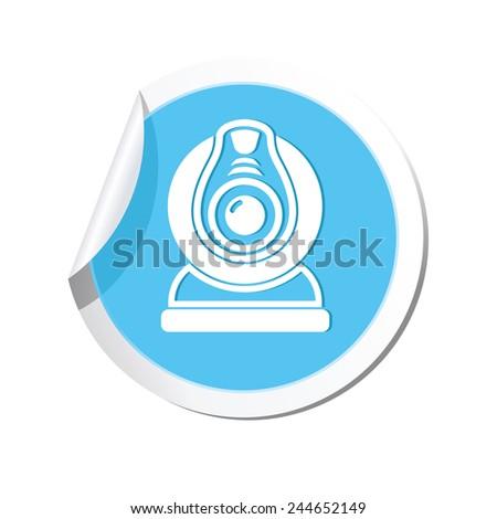 Web camera icon. Vector illustration - stock vector