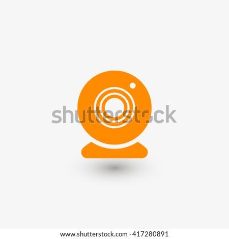 Web camera icon vector, Web camera icon eps10, Web camera icon picture, Web camera icon flat, Web camera icon, Web camera web icon, Web camera icon art, Web camera icon drawing, Web camera icon, - stock vector