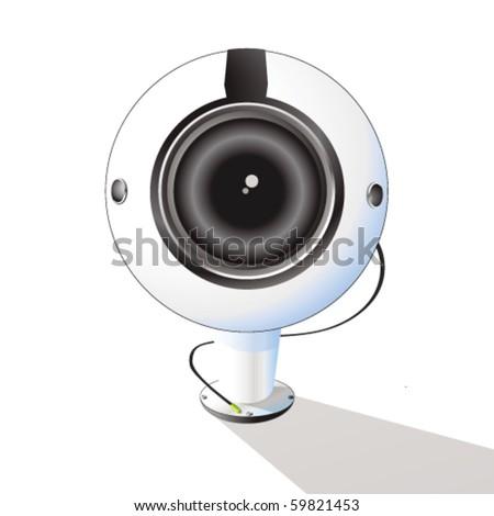 web camera illustration - stock vector