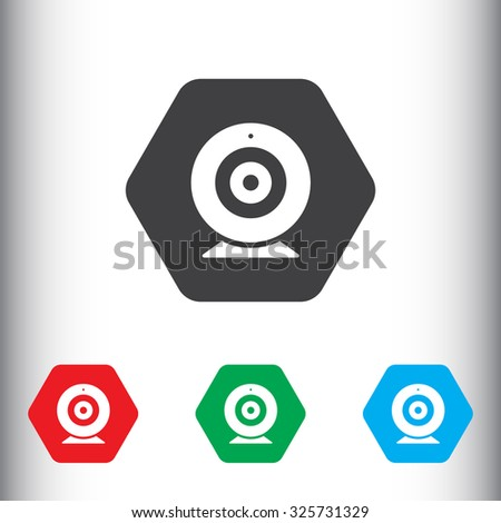 Web camera sign icon, vector illustration. Flat design style for web and mobile.
