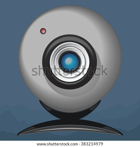 Web camera. Vector - stock vector