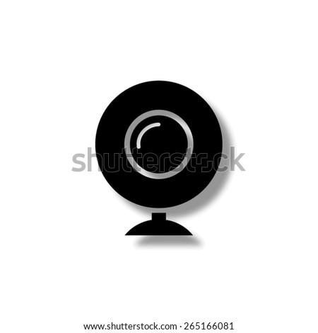 web camera - vector icon with shadow - stock vector