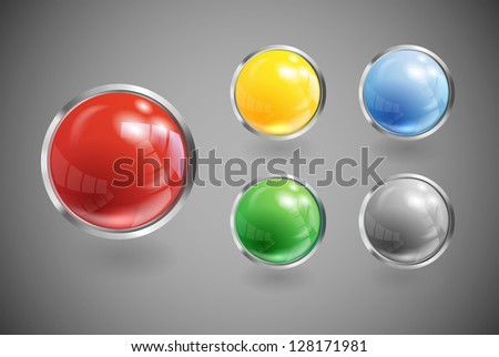 Web color icons set. File contains  gradients and transparency. EPS 10 - stock vector