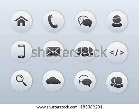 Web, communication icons: internet. Vector illustration - stock vector