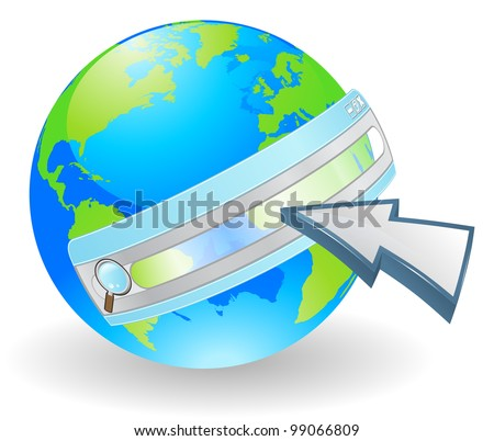 Web concept. Conceptual illustration for searching the internet. - stock vector