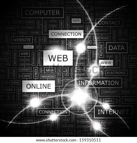WEB. Concept illustration. Graphic tag collection. Wordcloud collage. Vector illustration.  - stock vector