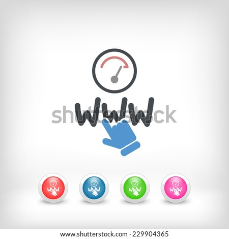 Web connection icon - stock vector
