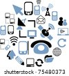web connection icons & signs, vector illustration - stock vector