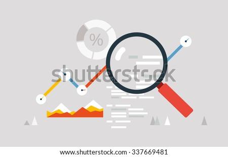 Web data analysis - stock vector