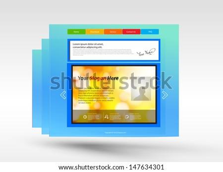Web design concept - stock vector
