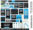 Web design elements extreme collection 2 BlackBlue - Many different form styles, frames, bars, icons, banners, login forms, buttons and so on! - stock vector