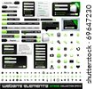 Web design elements extreme collection - frames, bars, 101 icons, bannes, login forms, buttons. - stock photo