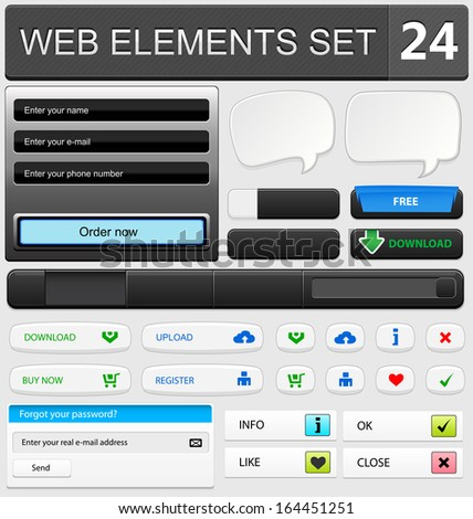 Web design elements set. Vector illustration