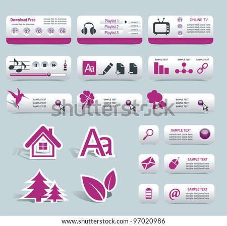 Web Design Frame Vector - stock vector