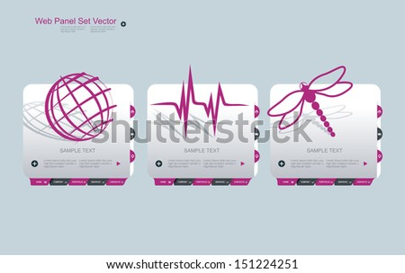 Web Design Frame Vector with Symbols. - stock vector
