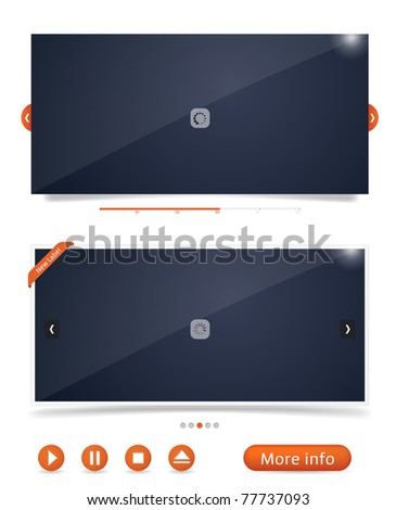 Web design frames - stock vector