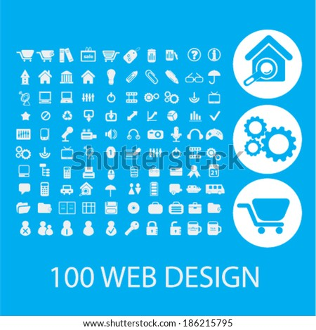 web design icons set, vector