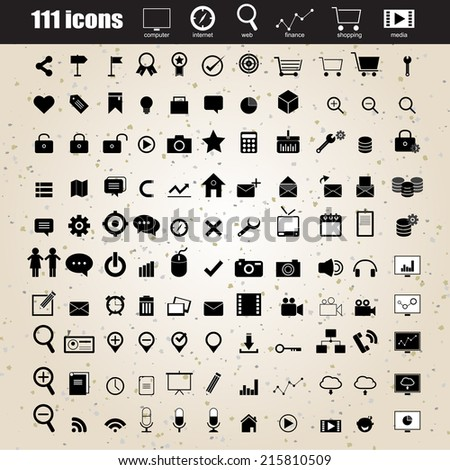web design icons set vector eps 10 for business, finance and communication - stock vector