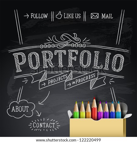 Graphic Designer Portfolio Website Templates Web Design Portfolio Template
