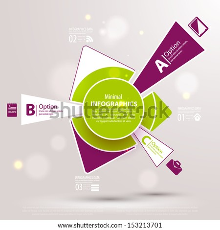 Web design template. Vector illustration for your business presentation. - stock vector