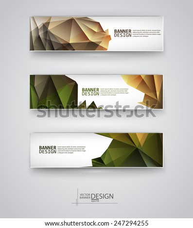 Web design templates. Set of Banners with ... Backgrounds. Geometric  Abstract Modern Vector Illustration. - stock vector