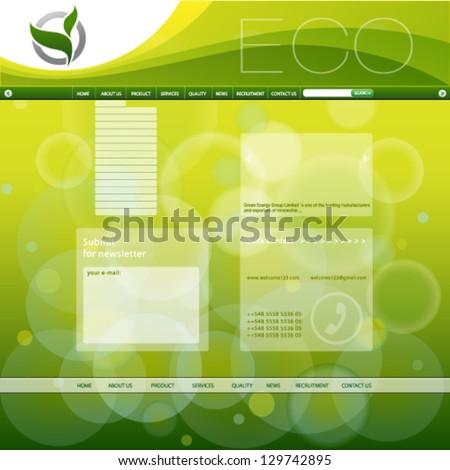 Web Design Vector banner template. Easy editable for your design. - stock vector