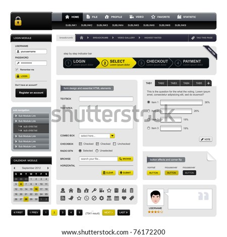 Web Design Website Element Vector - stock vector