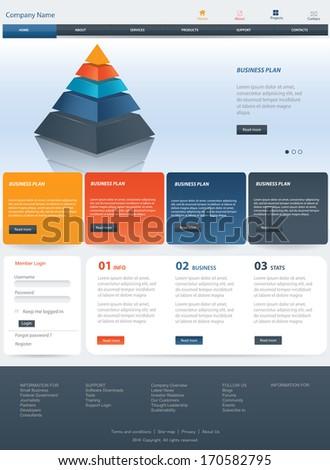 Web Design Website Vector Elements - stock vector