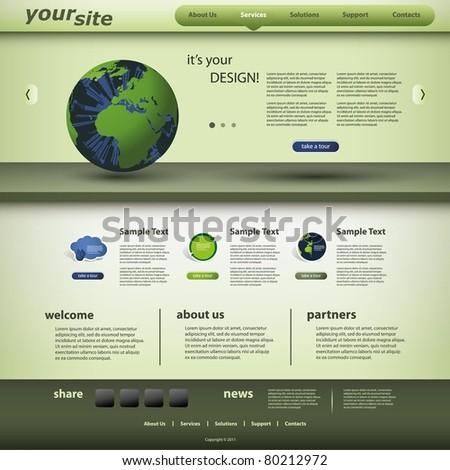 Web Design with Website Elements - stock vector