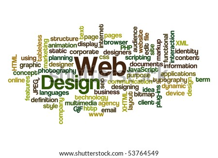 Web Design - Word Cloud - stock vector