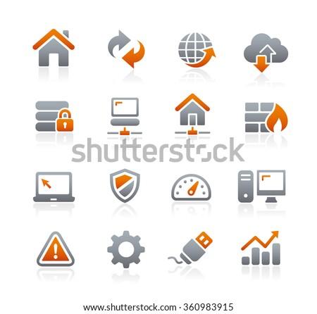 Web Developer Icons // Graphite Series - stock vector