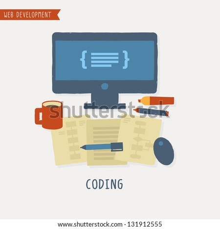 Web Development - stock vector