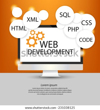 Web Development concept - stock vector