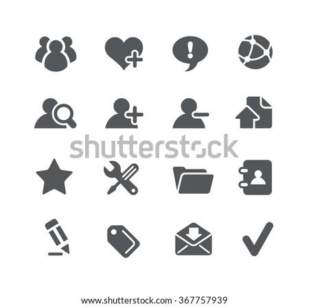 Web Development icons // Utility Series - stock vector