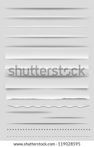 Web Dividers and Shadows - stock vector