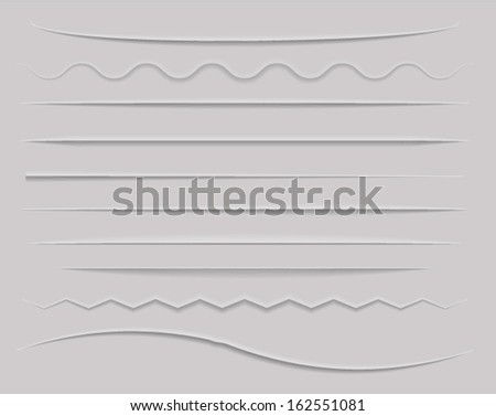 Web Dividers and Shadows. Vector eps10. - stock vector