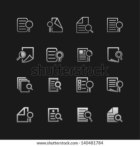 Web document icon set