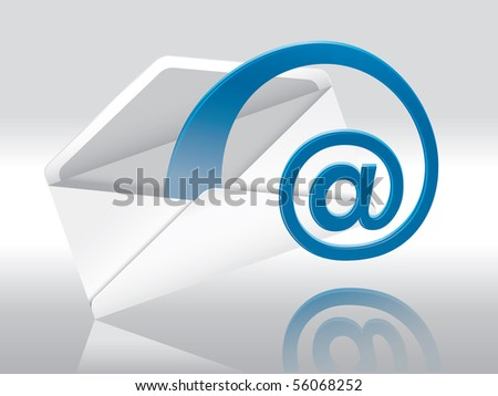 Web E-Mail (Envelope With Space For Your Text) - stock vector