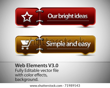 Web Element and internet icon Design Template, editable illustration - stock vector
